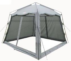 шатер тент для природы с закрытыми стенками